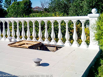 Балюстрада белая в с. Пологи | Балясины бетонные в Киевской области 15