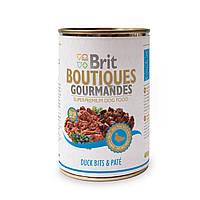 Консервы для собак Брит (Brit Boutiques Gourmandes DuckBits&Pate), кусочки утки в паштете, 400 гр