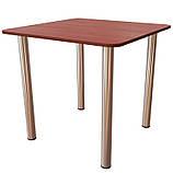 Стол для кафе обеденный на хромированных ножках (800*800*750h). Столы для кафе и столовых, фото 3