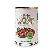 Консервы для собак Брит (Brit Boutiques Gourmandes LambBits&Pate), кусочки мяса ягненка в паштете, 400 гр