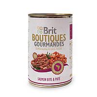 Консервы для собак Брит (Brit Boutiques Gourmandes SalmonBits&Pate), кусочки лосося в паштете, 400 гр