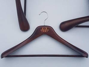 Плечики длиной 45 см вешалки деревянные  Mainetti Kazara Lкоричневого цвета