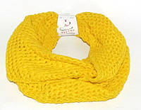 Шарф - хомут (снуд) Турция желтый