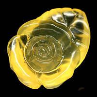 7.79 кт Природный желтый опал Мексика. Резная роза,ручная работа