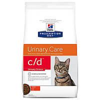 Hills (Хилс) Prescription Diet Feline C/D Urinary Stress лечебный корм для кошек с курицей 4 кг