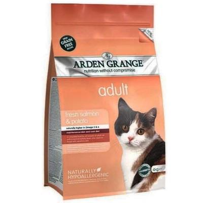 Arden Grange ADULT CAT Salmon & Potato 8 кг - корм для кошек (лосось/картофель)
