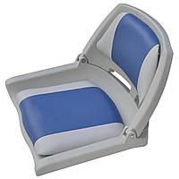 Сиденье пластиковое складное 75109GB серо-синее