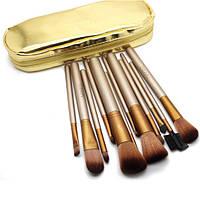 Набор кистей для макияжа Naked 12 gold ( в кошельке)