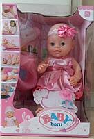 Кукла-пупс Baby Born, 37 см, 6 функций,