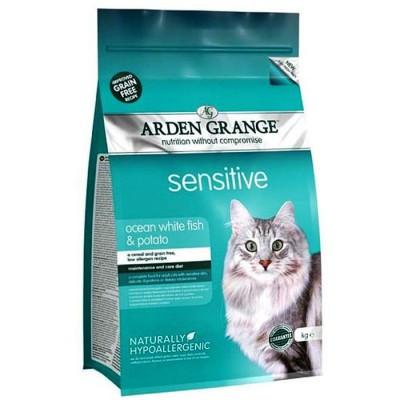 Arden Grange ADULT CAT Sensitive 8 кг - корм для чувствительных кошек