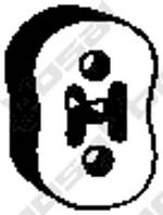 Резинка крепления глушителя задняя Lacetti/Gentra 96351543