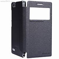 Чехол Nillkin Sparkle Leather Case для Huawei Ascend G6 Dark Grey