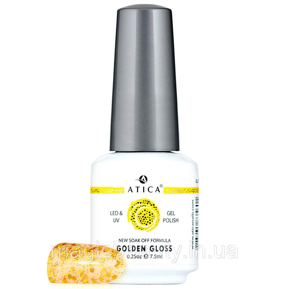 Гель-лак Atica Golden gloss 120, 7,5 мл