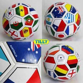Мяч футбольный BT-FB-0014 флаги PVC 390г 2-х слойный ш.к./60/