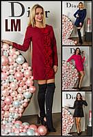Платье Зотта р S,M,L,XL женское осеннее весеннее батал с цветами вечернее большой размер черное синее розовое