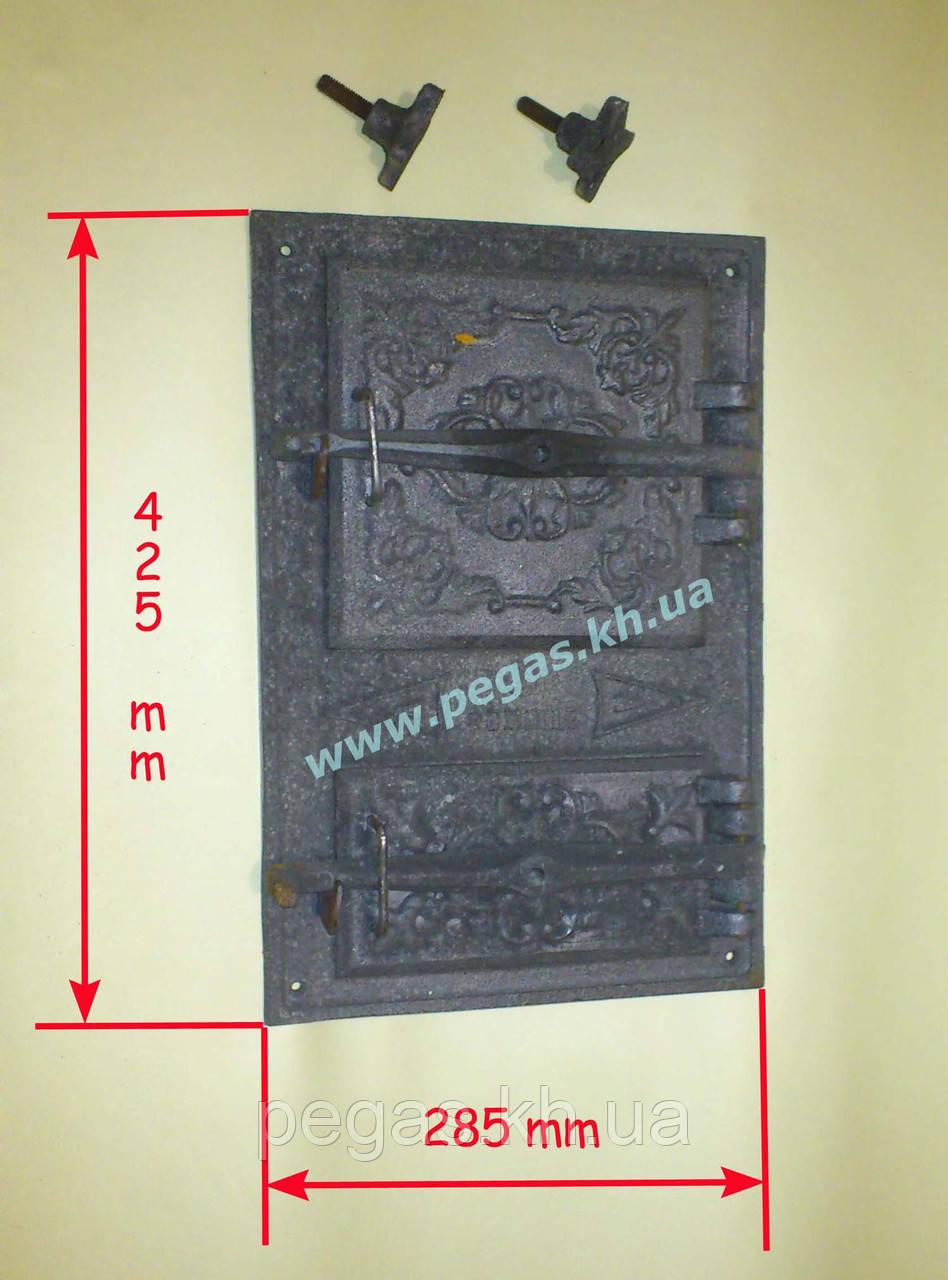 Дверка чугунная (спаренная) 285х425 мм