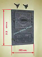 Дверка чугунная (спаренная) 285х425 мм, фото 1