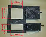 Дверка чугунная (спаренная) 285х425 мм, фото 2