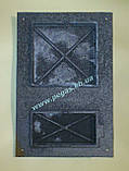 Дверка чугунная (спаренная) 285х425 мм, фото 3