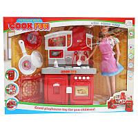 Кухня  SY-2063-5 плита,звук.св.продукты + кукла
