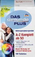 Биологически активная добавка A-Z Komplett от 50 лет, с лютеином Das Gesunde Plus 100 шт.