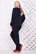 Женский стильный спортивный костюм Муза / размер 52-62, цвет темно синий, фото 3