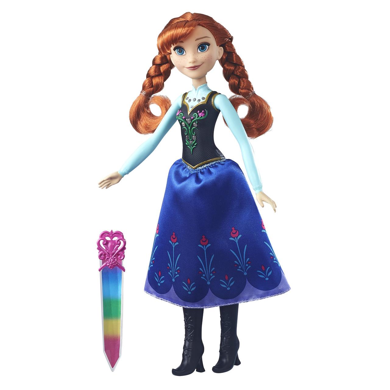 Куклы и пупсы «Disney Frozen» (B6162_B6164) модная кукла Анна (Anna) в сияющем наряде
