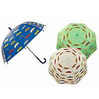 Зонт D15916  3 вида, матов.клеенка, купол.форма, в пакете 45см