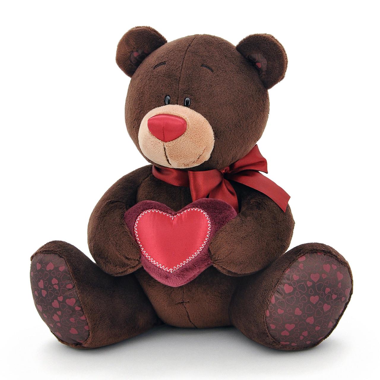 Мягкая игрушка «Orange» (C003/30) медвежонок Choco  с сердечком сидячий, 30 см