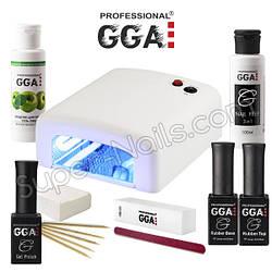 Старт набор гель лака GGA Professional с УФ-лампой