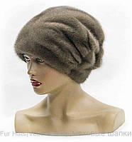 """Женская меховая шапка """"Веер"""" одна рюш.(пастель)"""