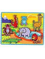 Развивающие и обучающие игрушки «Viga Toys» (56435) рамка-вкладыш Животные