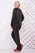 Женский стильный спортивный костюм Муза / размер 52-62, цвет черный, фото 2