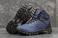 Мужские ботинки Timberland. Кожа Мех 100% Синие