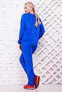 Женский стильный спортивный костюм Муза / размер 52-62, цвет электрик, фото 2
