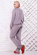 Женский стильный спортивный костюм Муза / размер 52-62, цвет светло серый, фото 3