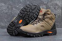 Мужские ботинки Timberland. Кожа Мех 100% Коричневые