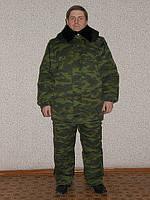 Куртка охранника утеплённая камуфлированная или черная удлиненная с мехом купить или пошить на заказ