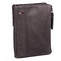 Кожаный Мужской Бумажник (модель New York) серый