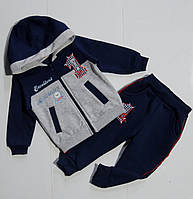 Тёплый спортивный  костюм для мальчика 9,12,18,24 месяцев