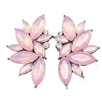 Серьги - гвоздики Pink Opal