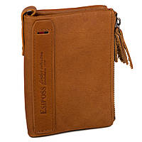 Кожаный Мужской Бумажник (модель New York) рыжий