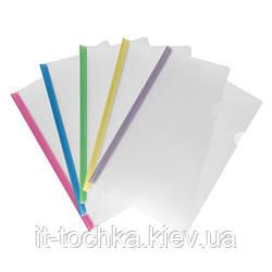 Прозрачный пластиковый скоросшиватель axent 1418-00-a a4 с планкой