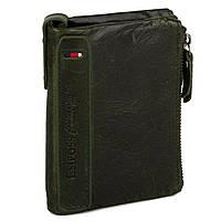Кожаный Мужской Бумажник (модель New York) зеленый