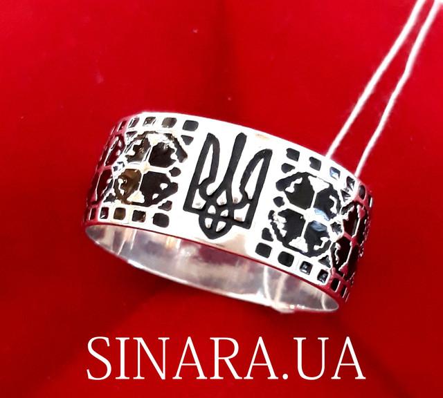 Каблучка з Тризубом - Кольцо Тризуб серебро - Тризубец кольцо Герб Украины фото