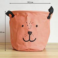 Корзина для игрушек Мишка, розовый Berni