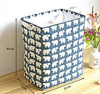 Корзина для игрушек на завязках Белые медведи Berni, фото 1