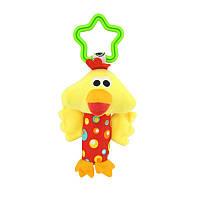 Мягкая подвеска - погремушка Цыпленок Happy Monkey