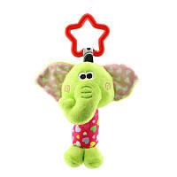 Мягкая подвеска - погремушка Слоненок Happy Monkey, фото 1