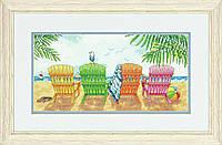 """70-35325 """"Пляжные кресла"""" Набор для вышивания,35*18 см,DIMENSIONS"""
